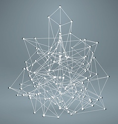 Wireframe Polygonal Element Abstract 3D Object vector image