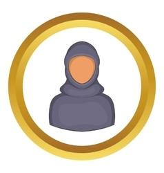 Woman arab icon vector