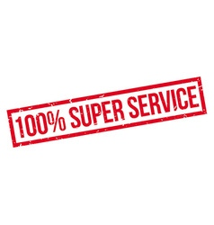 100 percent super service rubber stamp vector