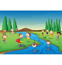River scene vector image