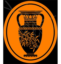 Stencil of jug for olive oil vector
