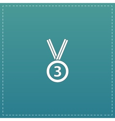 Bronze medal with ribbon vector image