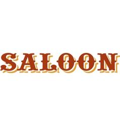 Saloon title vector