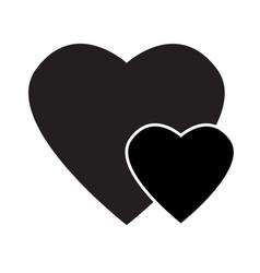 Black heart icon on white background black heart vector