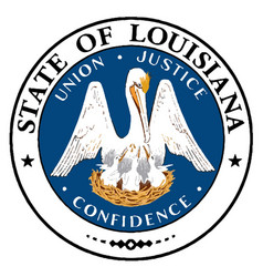 louisiana state seal vector image