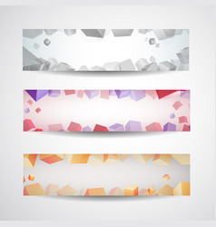 Abstract colored banner set vector