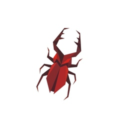 Stylized staghorn beetle vector