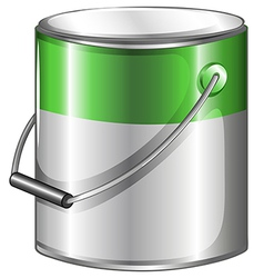 A can of green paint vector