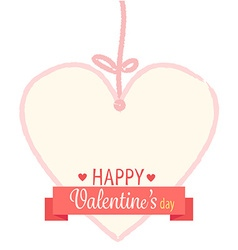 Happy valentines day ribbon vector