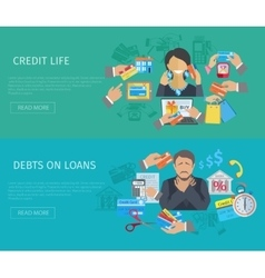 Credit life banner vector