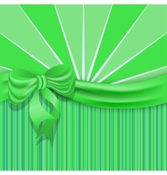 Stpatricks background with a green satin ribbon vector
