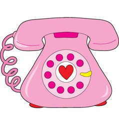 Heart telephone vector