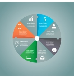 Circle business concept vector