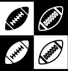 American simple football ball black and vector