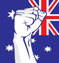 Australia fist vector image vector image