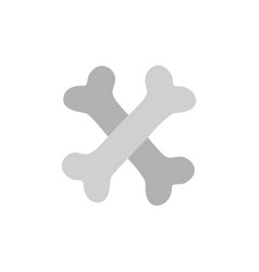 bones dangerous alert symbol of death vector image vector image