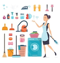 Cleaning Elements Collection vector image