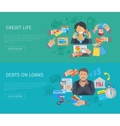 Credit life banner vector
