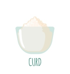 Curd icon on white background vector