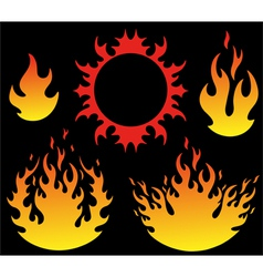 Fire vector image vector image