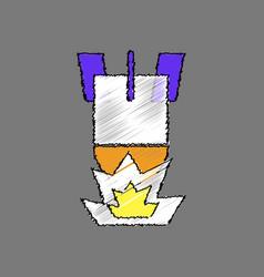 Flat shading style icon detonation of bomb vector