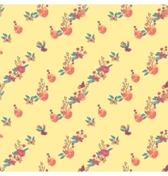 Floral Seamless Vintage Wildflowers Pattern vector image vector image