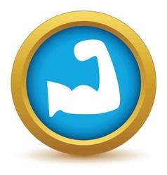 Gold brawn icon vector