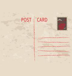 halloween postage card vintage style vector image