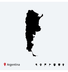 High detailed map of argentina with navigation vector