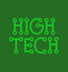 High tech logo vector