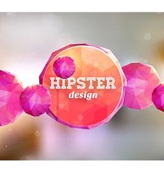 Hipster pink diamond banner vector