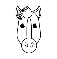 Horse animal farm isolated icon vector