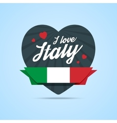 I love Italy badge vector image vector image