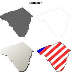 Lancaster map icon set vector