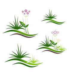 landscape logo design set vector image vector image