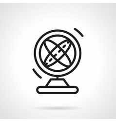 Magnetic pendulum black simple line icon vector