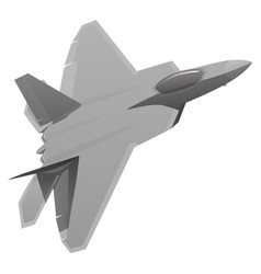 military fighter jet aircraft vector image vector image
