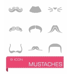 Mustaches icon set vector