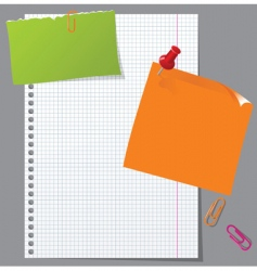 office stationery vector image vector image