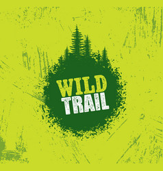 Outdoor adventure trail creative design vector