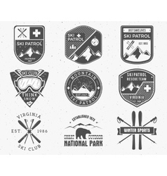 Outdoors camp stamp design Tourism hipster vector image vector image