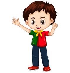 portugal boy waving hand vector image vector image