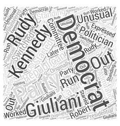 Rudy giuliani republican word cloud concept vector