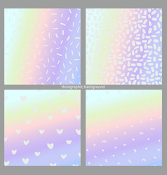 Set of holographic backgrounds imitation of a vector