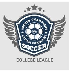 Soccer badge - emblem on light background vector