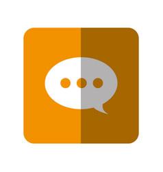 Speech bulb icon vector