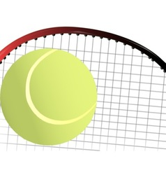 Tennis Ball and Racket vector image