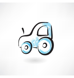 Tractor grunge icon vector