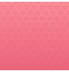 Vintage pink pattern of hearts vector image vector image
