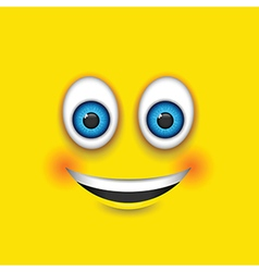 Smiling square emoji vector